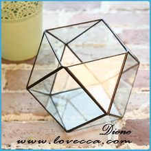 clear glass fish bowl geometric wholesale hanging glass ball candle holder