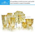 colorida de cristal real decoraton casa casamento pedaço de flor por atacado arrangemnet ikebana vaso