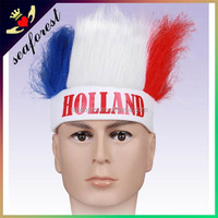 Holland crazy color sports fan wigs,Fashion european cosplay wigs,colorful party wigs