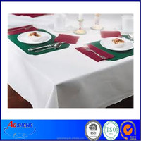 Hotel/Home Clear Plastic Disposable Square Tablecloth