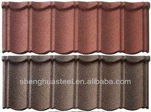 1.17Meter Length colorful stone-coated metal roofing sheet