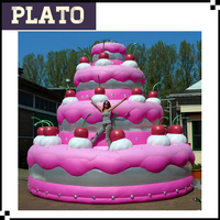 wholesale giant inflatable multilayer birthday cake, custom inflatable cake model for advertising, promotion or exhibition