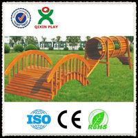 Adventurous and fun wooden playsets/wooden outdoor play equipment/climbing frames QX-078G