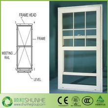 JIN YING Brand new UPVC Vertical Sliding Insulated Glass Window