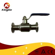 Sanitary clamped ball valve stainless steel for food