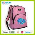 Walmart de auditoría producto schoolbag mochila diaria, la moda de los delfines de poliéster mochila hecha en china