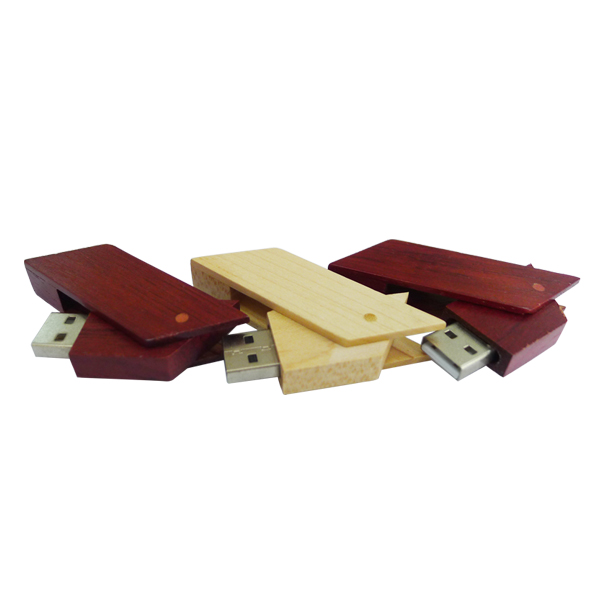 innovative design usb wooden swivel flash drive 16gb