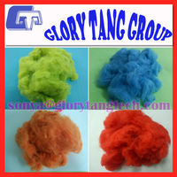 hot sale chemical fibre/china polyester stable fiber/recycled dope dyed fiber staple