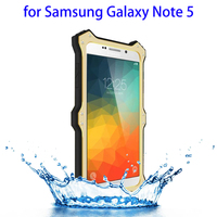 Deluxe LOVEMEI Hybrid Aluminum and Silicone Waterproof Case for Samsung Galaxy Note 5