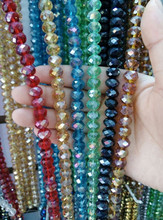 Wholesale China factory price mix color crystal glass beads for wedding dress