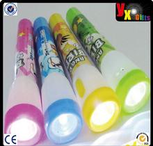 creative flashlight cartoon ball Pen cute children stationery