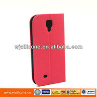 book style pu leather cases for Samsung s4 mobile phone