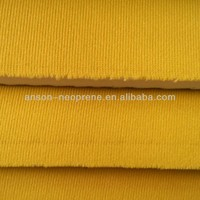 Anson brand Soft neoprene fabric, neoprene laminated polyester microfiber fabric sheet, china polyester cloth material