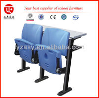 Hot Sales Plastic Auditorium Chair with Tablet Arm
