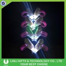 Plastic Mini Flashing Custom LED Finger Light,Laser Led Finger Light,Silicone FInger Light