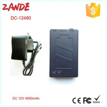 Fashion Outlet Super Power bank for LED strips Dc 12v Portable 4800mah Li-ion Battery with PCB protection