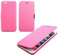Simple Style Colorful Magnetic Slim PU Leather Case Flip Cover for Apple iPhone 6 6 Plus