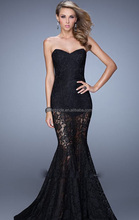 Sexy see Through Mermaid lace Evening Dresses