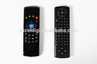 Smart Wireless 2.4 GHz Air Mouse + Touchpad Handheld teclado Combo - preto