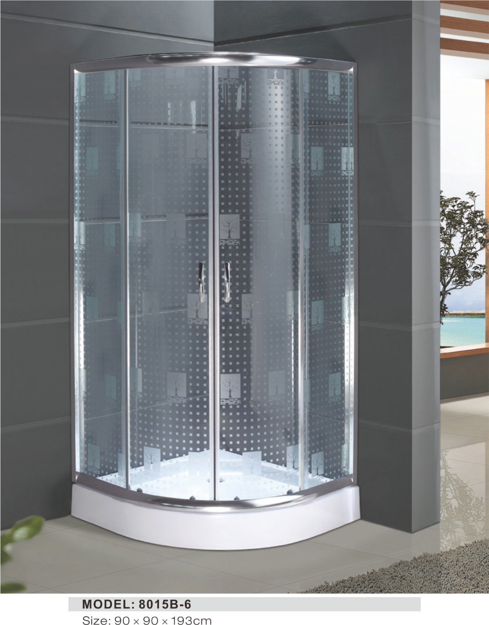 Small Cheap Shower Enclosure With Glass Door And Shower Tray - Buy ...