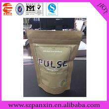 Brown paper/AL/PET standing zipper craft paper food bag