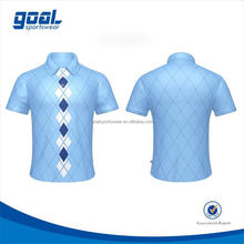 New style sublimation printing 100% polyester dry fit men's golf sports polo shirt