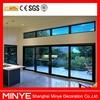 big glass aluminum sliding door price/double glazed sliding door