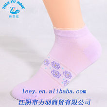 Fashion Dress Knitting Bamboo Fiber Socks For Women Ankle Socks With Lace or Polka Dot