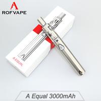 Rofvape A Equal 3000mah vape pen electronic cigarette malaysia e cig mod kit vaporizer and 1500mah A Equal Mini
