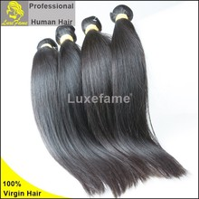 Luxefame Hair natural color virgin human hair 32 inch hair extensions clip in