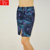 Pictures of Mature Women With Short Skirt Summer Women Short skirts Flower Print Pencil skirts