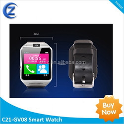 price of smart watch phone GV08 Support android 4.4 mobile phone