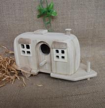 2015 new arrive customized handmade christmas craft wooden bird house