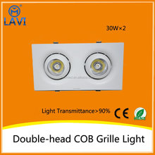 Square and round one head LED downlight, Double head, triple head adjustable 60w led down light