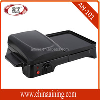 Electric Contact Grill With Plastic Housing Material And Half Press Grill And Half Griddle Plate
