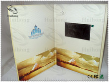 lcd screens video recordable greeting card for ISO9001 factory