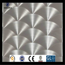 Circle CD Patterned Polished stainless Steel