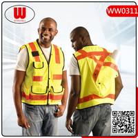 Special design multi pockets safety waterproof vests