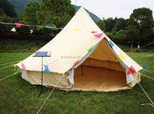 cotton canvas bell tent for family event camping