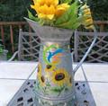 Colores brillantes glavanized flores de zinc jug