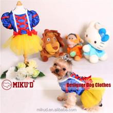 2015 new pet apparel snow princess, dog wedding dress, graceful dog dress for dog clothes