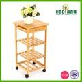 alta qualidade de venda quente de madeira bandeja de mesa com rodas atacado