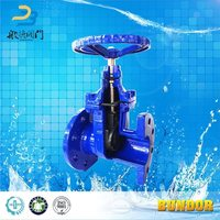 Din Rising Stem Resilient Seated Manual Gate Valve