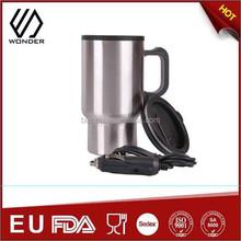 inner plastic outside SS electric coffee mug