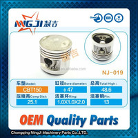 Motorcycle Engine Parts Chinese Motorcycle Parts Engine Piston for Honda CBT150 Double cylinder 47mm diameter