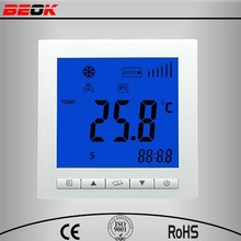 ventilatore regolatore di temperatura bobina con 5-1-1 programma della giornata, display lcd, 220 tensione, 230 tensione, 240 te