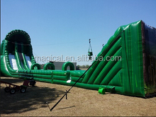 Classic mobile zip line inflatable slide