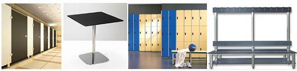 6 미리메터-25 미리메터 소형 라미네이트 hpl 화장실 파티션 보드 ...