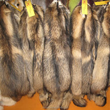 wholesale and retail real good raccoon fur products with face and tail for har coat /collar/fashion garment