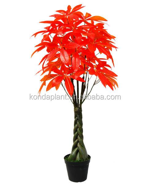 Rouge artificielle petits bonsa s en plastique plantes d - Arbre d interieur design ...